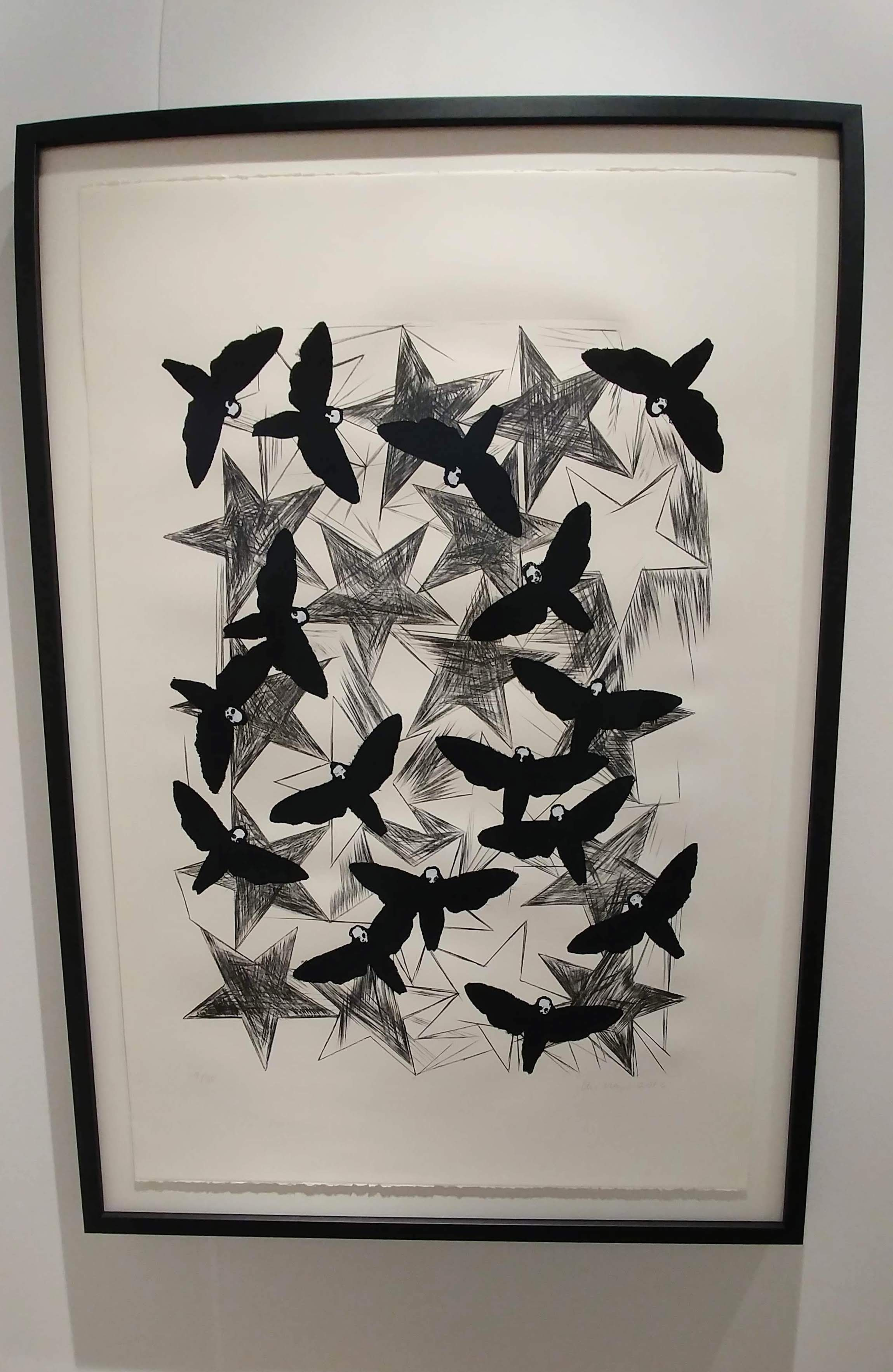 Hawk Moths, 2016 ©Charline Von Heyl with Corbett vs. Dempsey Gallery. Framed by Seaberg.