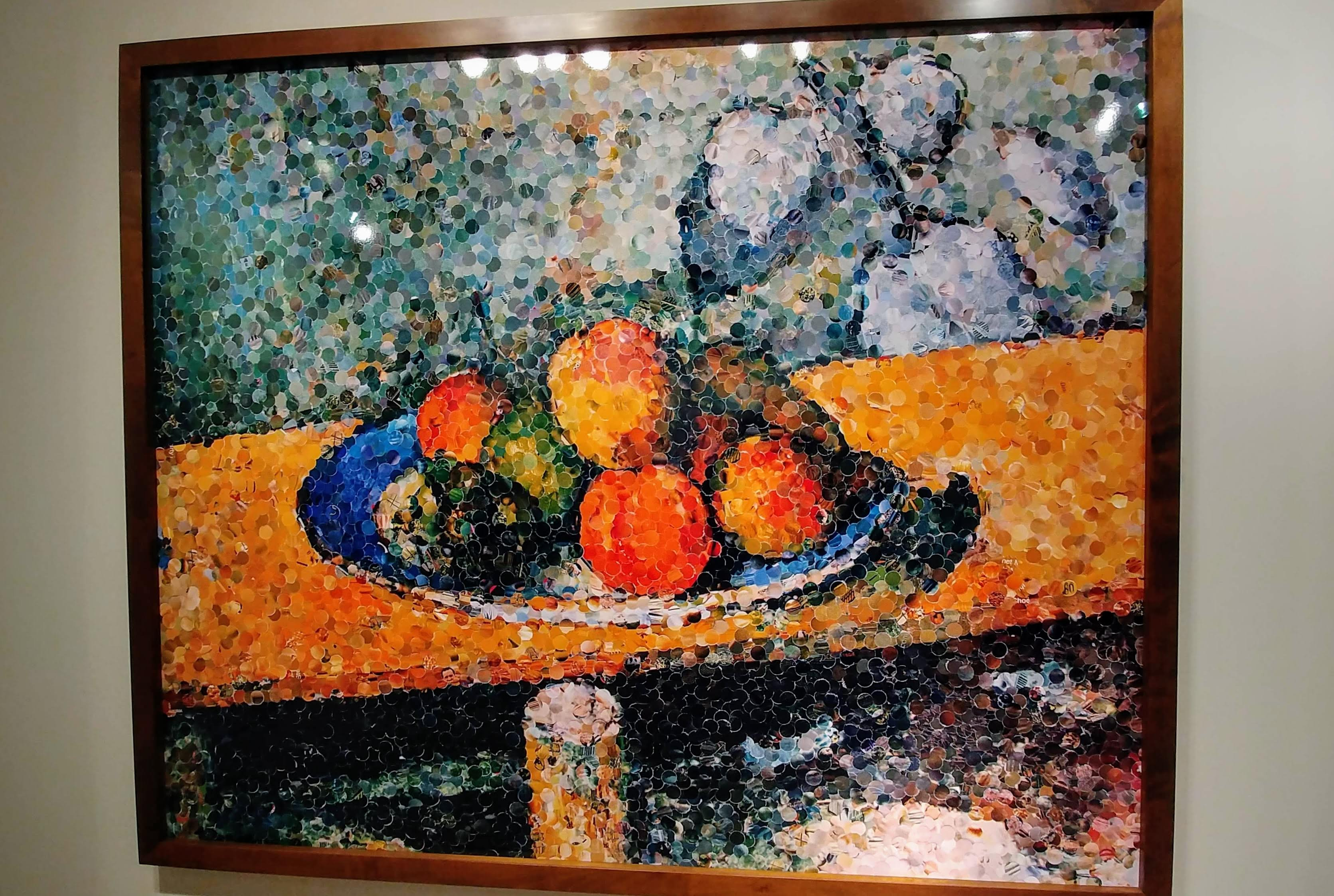Apples, Peaches, Pears, and Grapes, After Cezanne, 2003 ©Vik Muniz with Rhona Hoffman Gallery, Chicago.