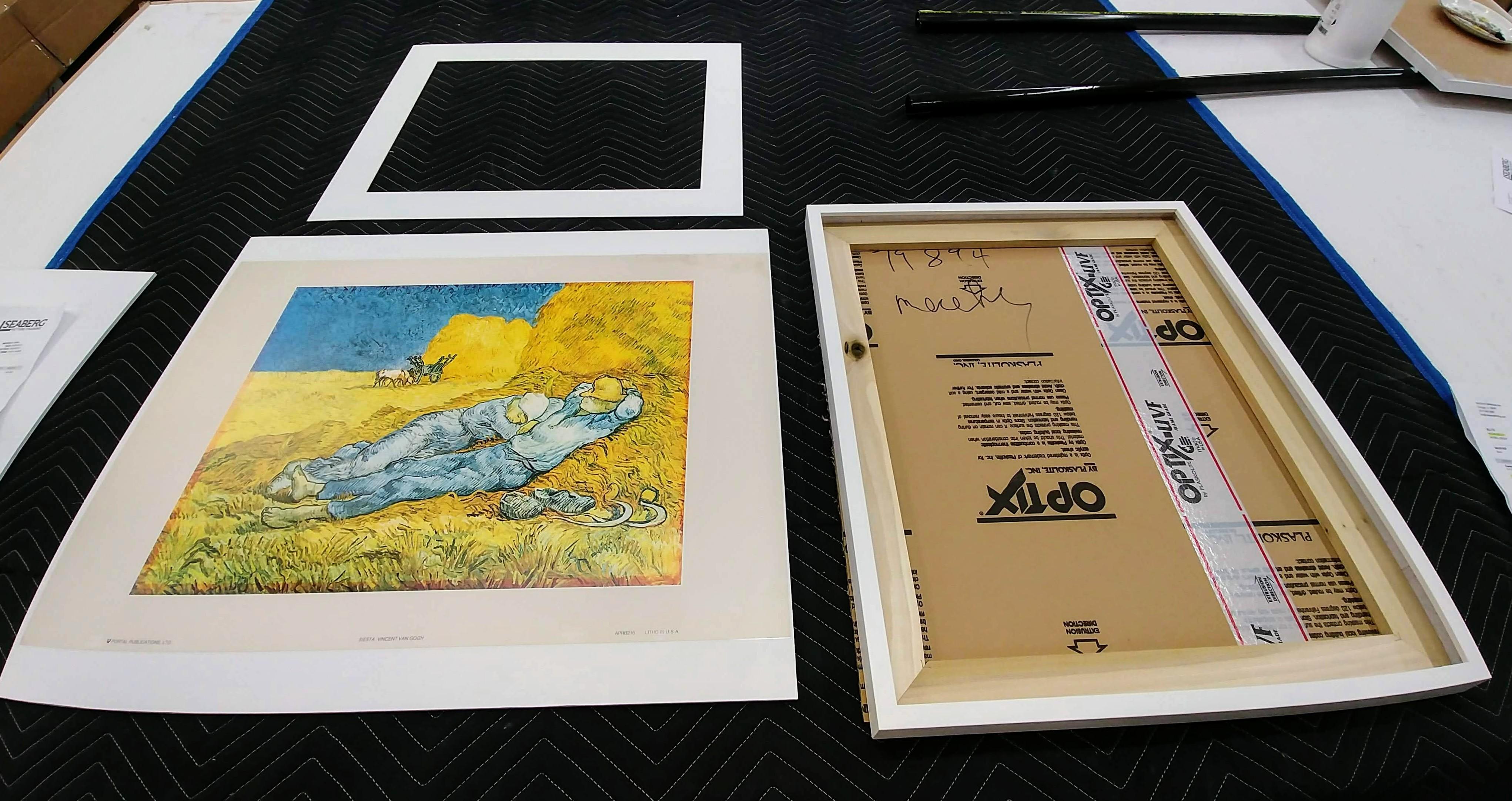 Custom framed art poster