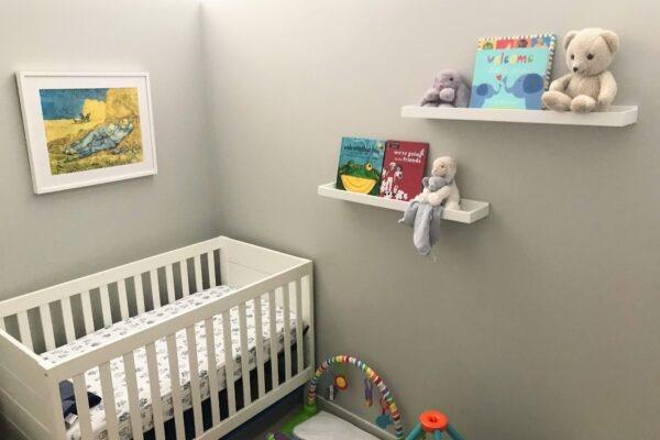 Custom framed art for nursery